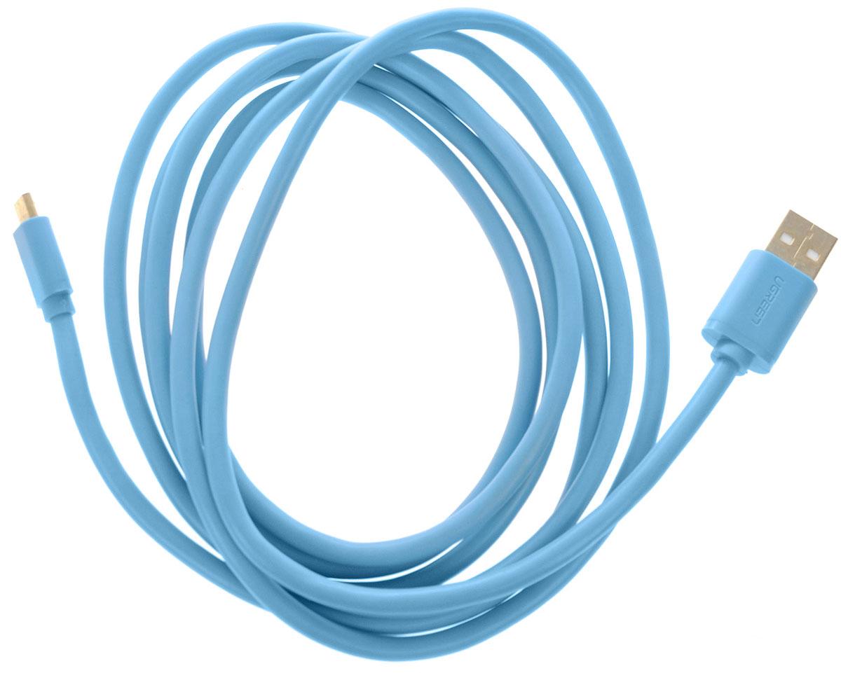 Ugreen Premium UG-10872, Blue кабель microUSB-USB 2 мUG-10872Кабель Ugreen Premium UG-10872 позволяет подключать мобильные устройства, которые имеют разъем microUSB к USB разъему компьютера. Подходит для повседневных задач, таких как синхронизация данных и передача файлов. Кабель имеет экранирование, что позволяет защитить сигнал при передаче от влияния внешних полей, способных создать помехи.