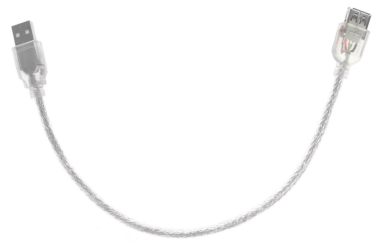 Greenconnect Premium GCR-UEC2M-BD2S, Clear кабель-удлинитель USB 0.3 м