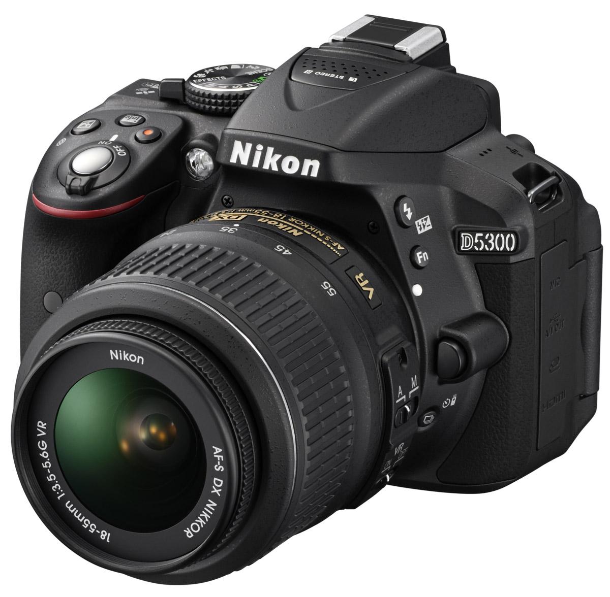 Nikon D5300 Kit 18-55 VR, Black цифровая зеркальная камера ( VBA370K007 )