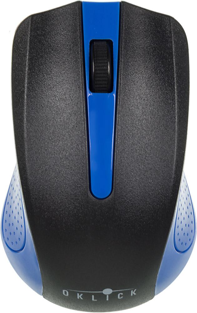 Oklick 485MW, Black Blue мышьMO-353Беспроводная мышь Oklick 455MW подходит для работы с ноутбуком и настольным ПК. Устройство выполнено в эргономичном дизайне и имеет симметричную форму, благодаря чему подходит для управления любой рукой. Оптический сенсор с высоким разрешением позволяет использовать устройство в различных графических приложениях и текстовых редакторах. Данная модель имеет специальный отсек для хранения USB-ресивера, что очень удобно при перевозке мыши.