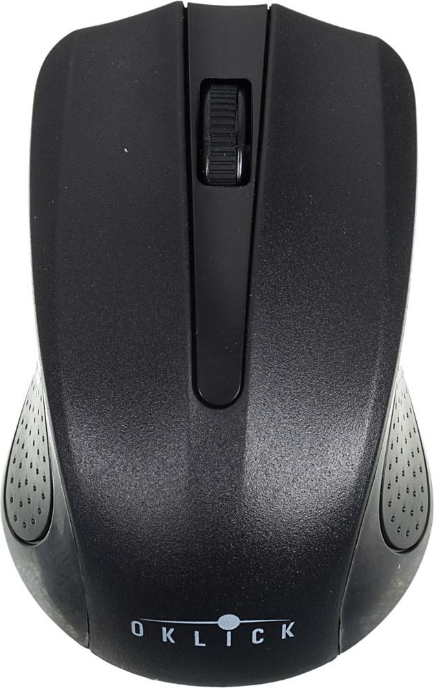 Oklick 485MW, Black мышьMO-353Беспроводная мышь Oklick 455MW подходит для работы с ноутбуком и настольным ПК. Устройство выполнено в эргономичном дизайне и имеет симметричную форму, благодаря чему подходит для управления любой рукой. Оптический сенсор с высоким разрешением позволяет использовать устройство в различных графических приложениях и текстовых редакторах. Данная модель имеет специальный отсек для хранения USB-ресивера, что очень удобно при перевозке мыши.