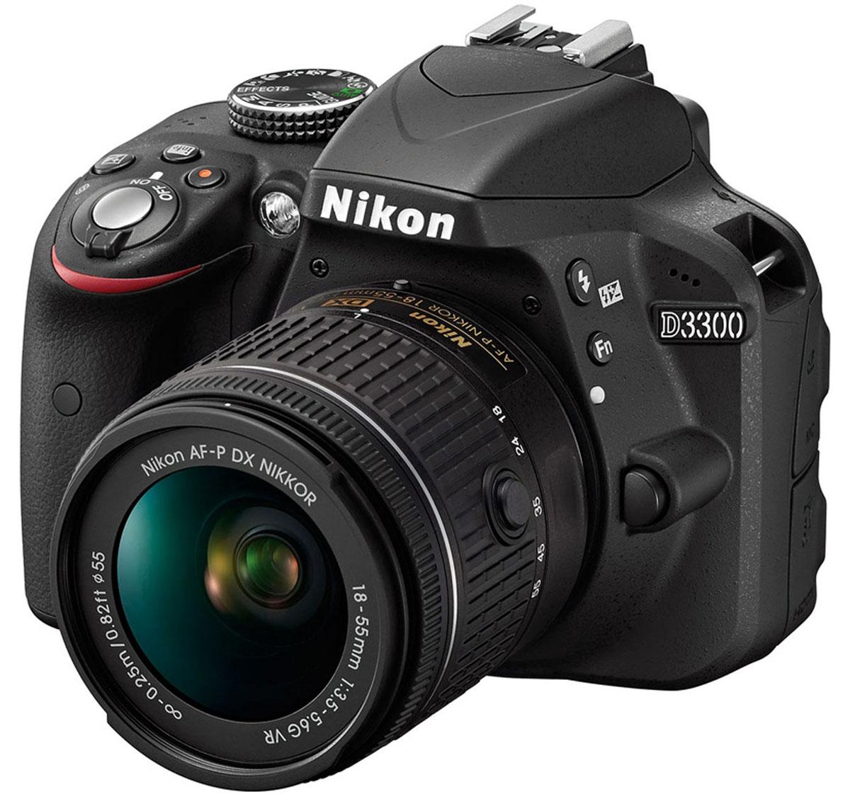 Nikon D3300 Kit 18-55 AF-P VR, Black цифровая зеркальная камера