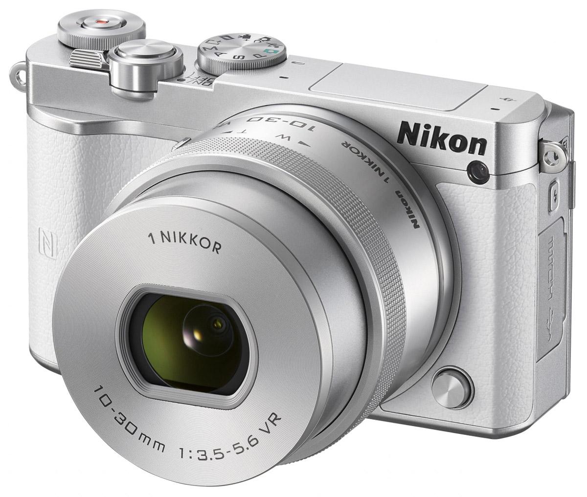Nikon 1 J5 Kit 10-30 VR, White цифровая фотокамера ( VVA242K001 )