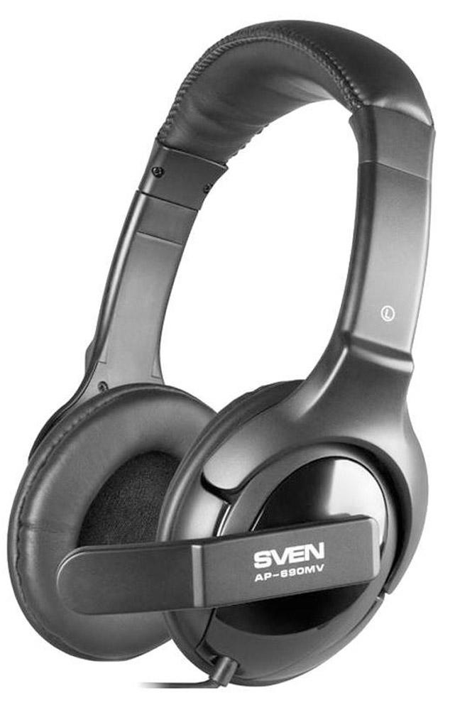 Sven AP-690MV наушники с микрофономSV-0410690MVСегодня многие владельцы наушников и гарнитур негласно пропагандируют идею: «уши» должно быть видно! Это связано и с преимуществом конструкции закрытых амбушюров, и эффектом шумоподавления, и со стильным дизайном, который ни в коем случае не стоит скрывать. Ориентируясь на данную тенденцию, компания Sven представила модель наушников с микрофоном Sven AP-690MV. Регулируемое оголовье устройства обеспечивает удобную посадку гарнитуры на голове. Поворотный держатель позволяет установить микрофон на оптимальном для пользователя расстоянии. Управление громкостью в модели Sven AP-690MV осуществляется с помощью регулятора на кабеле. В устройстве выполнена система пассивного шумоподавления (Sven PNC). Это значит, что внешние звуки просто отсекаются и не оттеняют воспроизводимый аудиоконтент. Будь то музыка, фильм, разговор по мессенджеру или видеоконференция – звучание всегда будет очень чистым и детальным. Дизайн моделей выполнен в урбанистическом стиле и, несомненно, приглянется...