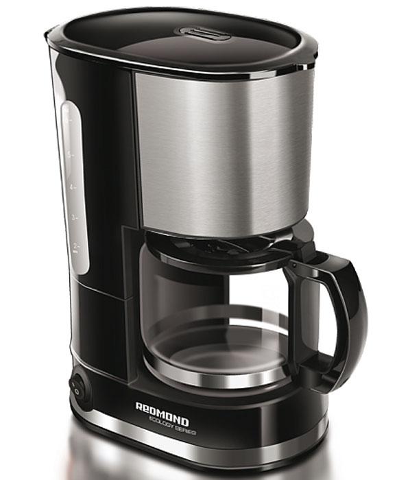 Redmond RCM-M1507 кофеваркаRCM-M1507Кофеварка Redmond RCM-M1507 – новинка с безупречным строгим дизайном, само воплощение высокого искусства кофеварения. Технологичная модель предназначена для приготовления кофе капельным методом. Благодаря компактным размерам её можно использовать и дома на кухне, и взять с собой в путешествие. Кофеварка Redmond RCM-M1507 обладает функцией поддержания температуры, которая позволит сохранить напиток горячим в течение долгого времени. Благодаря противокапельной системе, препятствующей попаданию жидкости на столик с подогревом, можно легко перелить кофе в чашку, не дожидаясь окончания полного цикла приготовления. Redmond RCM-M1507 имеет прочный кувшин из термостойкого стекла и съёмный многоразовый фильтр. Также в данном приборе предусмотрена возможность использования бумажных фильтров. Вы в полной мере ощутите превосходство этого богатого аромата свежесваренного кофе! Длина электрошнура: 0,7 м Объем кувшина: 0,6 л