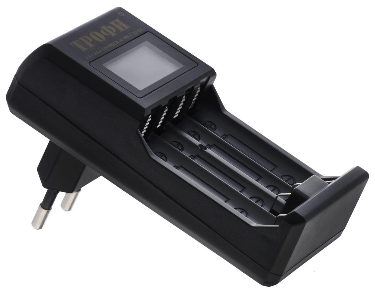 Трофи TR-803 зарядное устройствоTR-803Компактное автоматическое 4-х часовое зарядное устройство Трофи TR-803 с LCD дисплеем. Типы аккумуляторов: NiMH, NiCd Каналов для заряда: 4