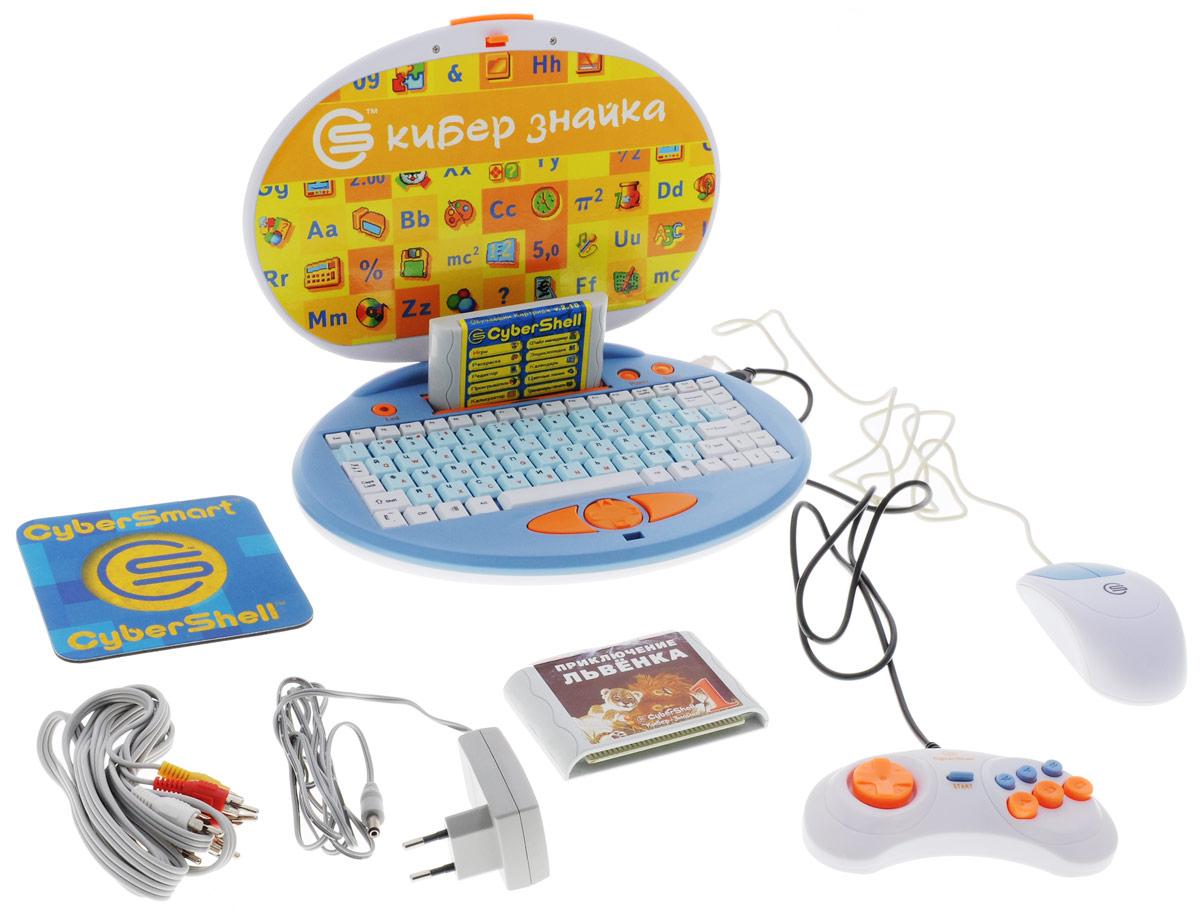 Cybertoy Киберзнайка обучающая игровая приставка6920038683225Приставка к телевизору Cybertoy Киберзнайка содержит развивающие и обучающие игры разнообразной направленности. Подходит для детей от 4-х лет. Комплексное развитие способностей (логическое мышление, память, внимание, наблюдательность, мелкая моторика) Закрепление знаний по различным предметам (арифметика, чтение, английский язык, окружающий мир и др.) Развитие эмоциональной сферы ребенка за счет использования в играх цвета и естественного звука Формирование компьютерной грамотности, развитие навыков работы с информацией, обучение печати на клавиатуре Продукт разработан при участии российских специалистов в области компьютерных технологий и детского образования Возможность расширять коллекцию игр за счет использования дополнительных игровых картриджей Игровая система 16-бит 512 экранных цветов Звуковой процессор YAMAHA Совместимость с играми Sega Игры в комплекте: Игры на развитие...