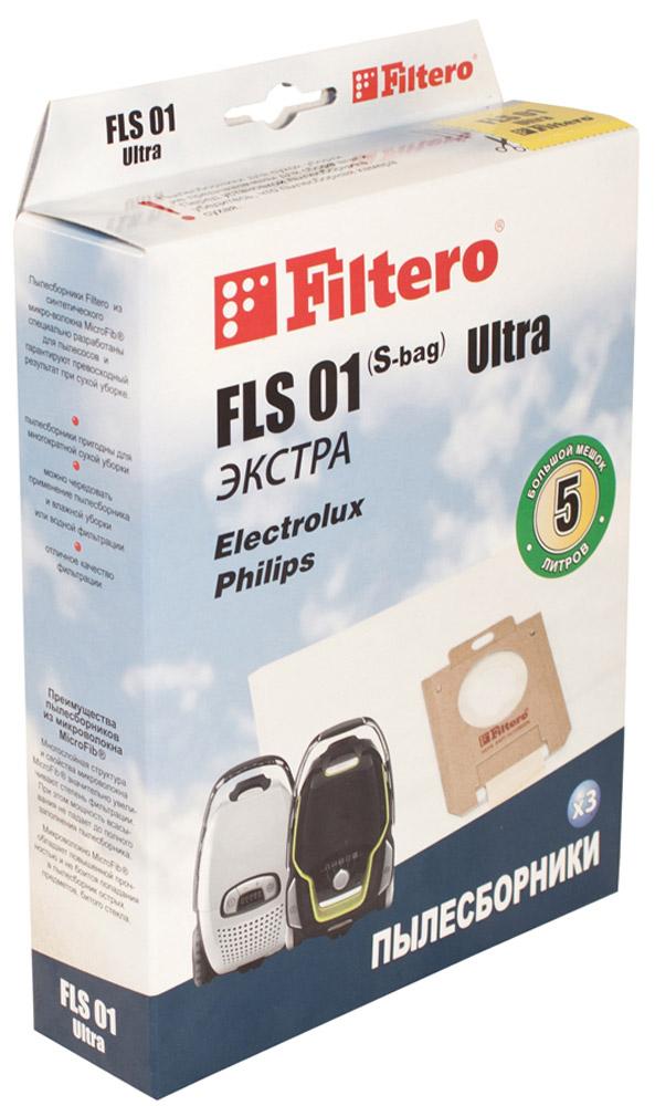 Filtero FLS 01 S-bag Ultra Экстра мешок-пылесборник 3 штFLS 01 (S-bag) Ultra ЭкстраМешки-пылесборники Filtero FLS 01 S-bag Ultra Экстра произведены из пятислойного синтетического микроволокна MicroFib. Они очень прочные, не боятся острых предметов и влаги, собирают до 50% больше пыли, чем бумажные. Помимо прочего, эти мешки обеспечивают уровень очистки воздуха 99,9%, что значительно выше, чем у бумажных пылесборников. При этом мощность всасывания пылесоса сохраняется в течение всего периода службы пылесборника.