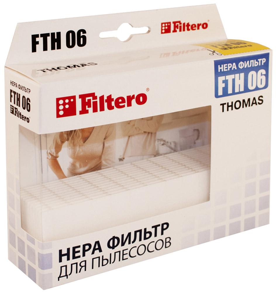 Filtero FTH 06 фильтр для пылесосов ThomasFTH 06Немоющийся фильтр Filtero FTH 06 уровня фильтрации НЕРА Н 10 препятствует выходу мельчайших частиц пыли и аллергенов из пылесоса в помещение. Он подлежит замене согласно рекомендации производителя пылесосов - не реже одного раза за 6 месяцев.