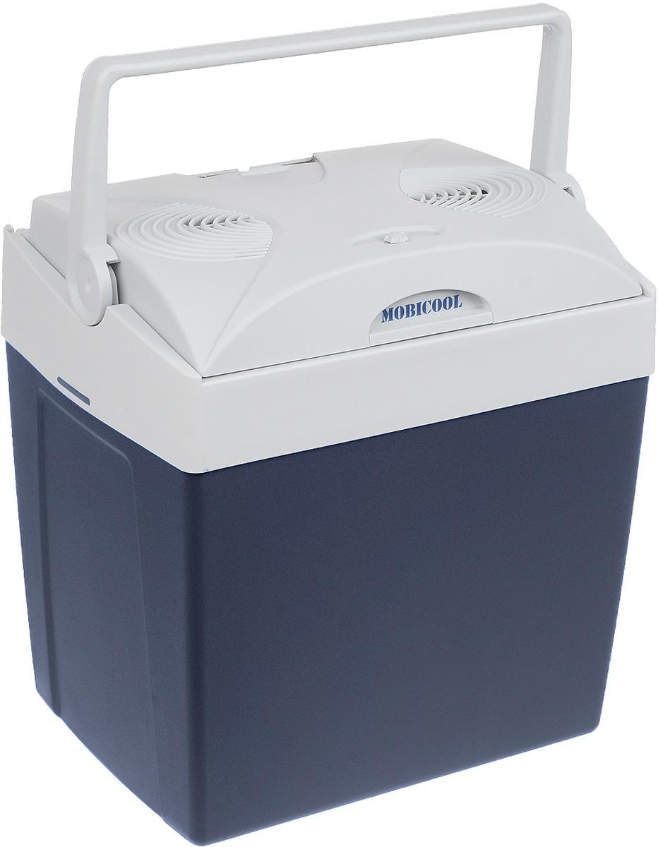 MOBICOOL V26 AC/DC автохолодильникV26 AC/DCАвтохолодильник MOBICOOL V26 AC/DC может работать от сети 12 В в автомобиле или 220 В дома. В крышке есть отсеки для хранения кабелей питания. Ручка может быть использована как держатель для крышки, а в камере каждого из них можно вместить бутылки до 2-х литров вертикально. Мощность: 48 Вт Двойной вентилятор Встроенный в крышку кабель Ручка может запирать крышку либо поддерживать открытой Вмещает двухлитровые бутылки