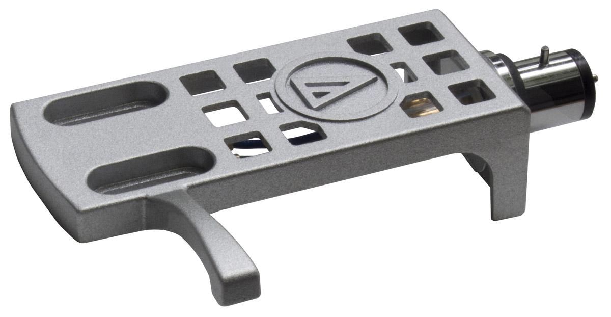 Audio-Technica AT-HS10, Silver держатель картриджа5055145748251Хедшелл универсальный c золотыми контактами, корпус из алюминия, 10 г, цвет серебряный