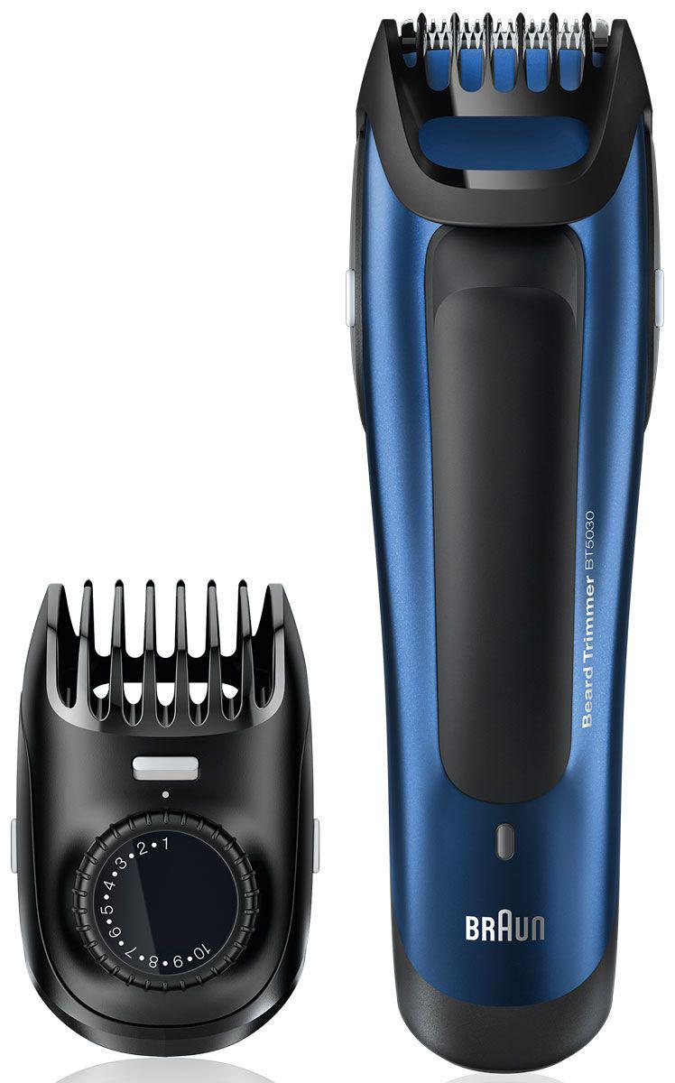 Braun BT 5030 триммер для бороды81517347Триммер для бороды Braun BT 5030 позволяет получить идеально выверенную длину и точные контуры - два необходимых условия любого отличного образа. Вне зависимости от того, хотите вы получить стильную щетину или подровнять бороду, съемная насадка-триммер обеспечит отличный результат! Высокоточная шкала: Будьте точны в своем стиле до 0,5 мм: Именно потому, что между нормально и идеально расстояние не больше 0,5 мм, точный гребень предлагает вам именно такой шаг для длины от 1 до 10 мм. Просто установите необходимую длину. Узкий гребень Braun: Так как эти гребни созданы более прочными, чем остальные, они не сгибаются, благодаря чему ваши движения будут более точными. Для ровного, точного, надежного и неизменного результата. Лезвия для точной стрижки всегда остаются острыми: Лезвия триммера разработаны для сохранения остроты на протяжении всего срока службы. Это обеспечивает точную укладку и сводит к минимуму выдергивание и...