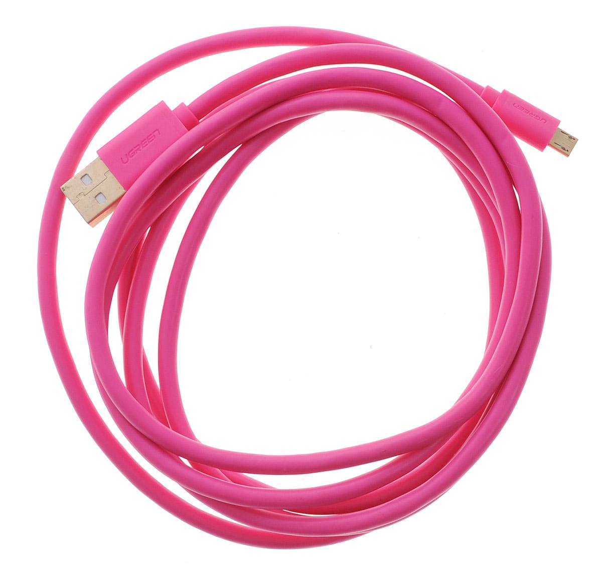 Ugreen Premium UG-10860, Pink кабель-переходник USB 2 мUG-10860Кабель Ugreen Premium UG-10860 позволяет подключать мобильные устройства, которые имеют разъем microUSB 5pin к USB AF разъему компьютера. Подходит для повседневных задач, таких как синхронизация данных и передача файлов. Пропускная способность интерфейса: до 480 Мбит/с Тип оболочки: ПВХ