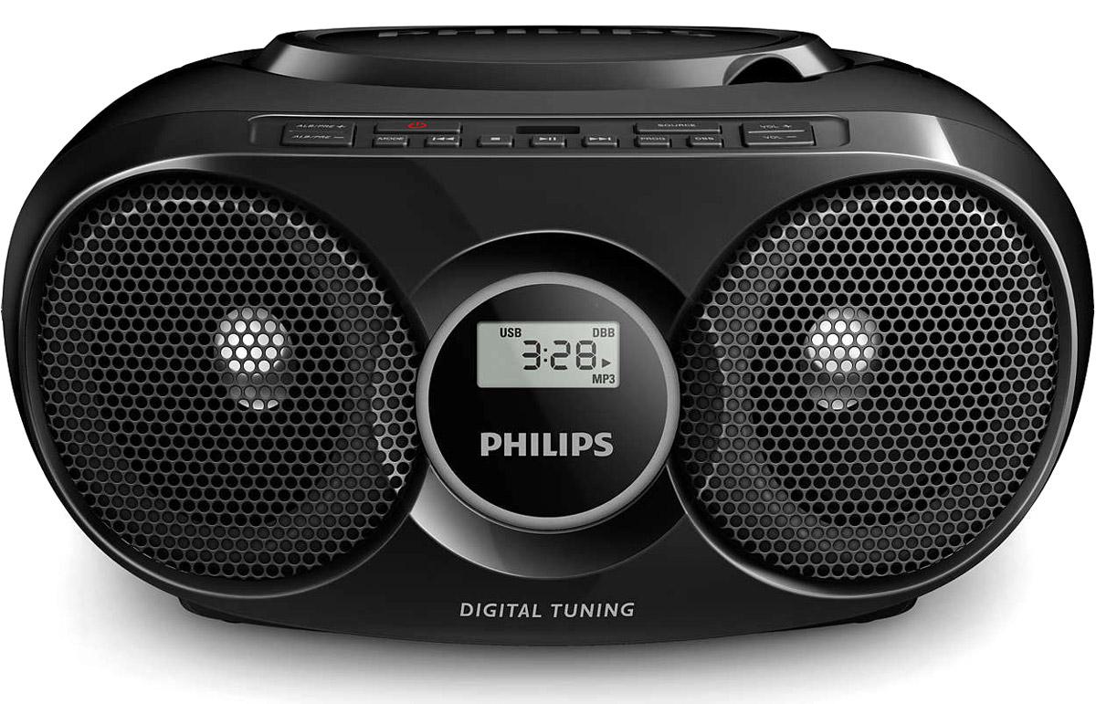 Philips AZ318B/12 магнитолаAZ318B/12Хотите слушать свои музыкальные коллекции с портативного плеера без использования наушников? Подключите портативный плеер к прямому порту USB магнитолы с CD от Philips и наслаждайтесь любимой музыкой в цифровом формате благодаря мощным динамикам. Режим динамического усиления НЧ максимизирует ваши ощущения от музыки, выделяя басовую составляющую музыки при любом уровне громкости одним нажатием кнопки! Частоты в нижней части диапазона басов обычно теряются при низком уровне громкости. Чтобы избежать этого, можно включить режим динамического усиления НЧ, тогда звук останется полноценным даже на малой громкости. Одно простое подключение, и вы можете наслаждаться любимой музыкой с портативных устройств и компьютеров. Просто подключите свое устройство к аудиовходу (3,5 мм) на комплекте АС Philips. На компьютерах подключение можно выполнить через разъем для наушников. Всю музыкальную коллекцию можно слушать через АС сразу после подключения. Технологии...