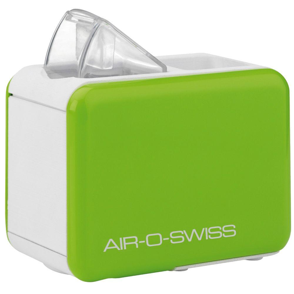 Boneco Air-O-Swiss U7146, Apple Green увлажнитель воздухаU7146 зеленыйМобильный увлажнитель воздуха Air-O-Swiss U7146 можно брать с собой куда угодно: на отдых, в командировку, в офис – в любой поездке он будет сопровождать Вас, поддерживая оптимальный уровень влажности воздуха, где бы Вы ни находились. Маленький и яркий увлажнитель Air-O-Swiss U7146 в кратчайшие сроки создаст благоприятный микроклимат в гостиничном номере или апартаментах, насыщая воздух живительной влагой. Такой легкий и компактный, он не займет много места и не потребует особого ухода. Прибор работает по принципу ультразвукового увлажнения воздуха. Вода, попадая в камеру парообразования, под воздействием ультразвука расщепляется на мельчайшие брызги. Микроскопические капли образуют своеобразное облако пара, вентилятор малой мощности прогоняет наружный воздух, подавая пар в помещение, который затем равномерно по нему распространяется. Уникальность модели AOS U7146 - в том, что в качестве емкости для воды выступает стандартная пластиковая бутылка...