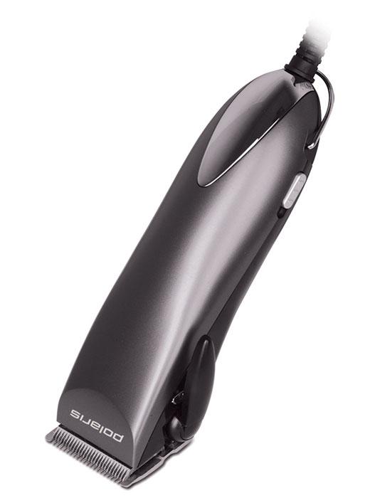 Polaris PHC 2501, Dark Blue машинка для стрижки волосPHC 2501_антрацитМашинка для стрижки Polaris PHC 2501 оснащена телескопической насадкой, при помощи которой можно менять высоту ножа и регулировать длину стрижки волос от 8 до 20 мм. Модель прибора имеет стандартную насадку с 5- уровневым рычагом, которая позволяет установить длину прически от 0,8 до 3 мм. Ширина режущих лезвий, выполненных из высококачественной нержавеющей стали, составляет 45 мм.