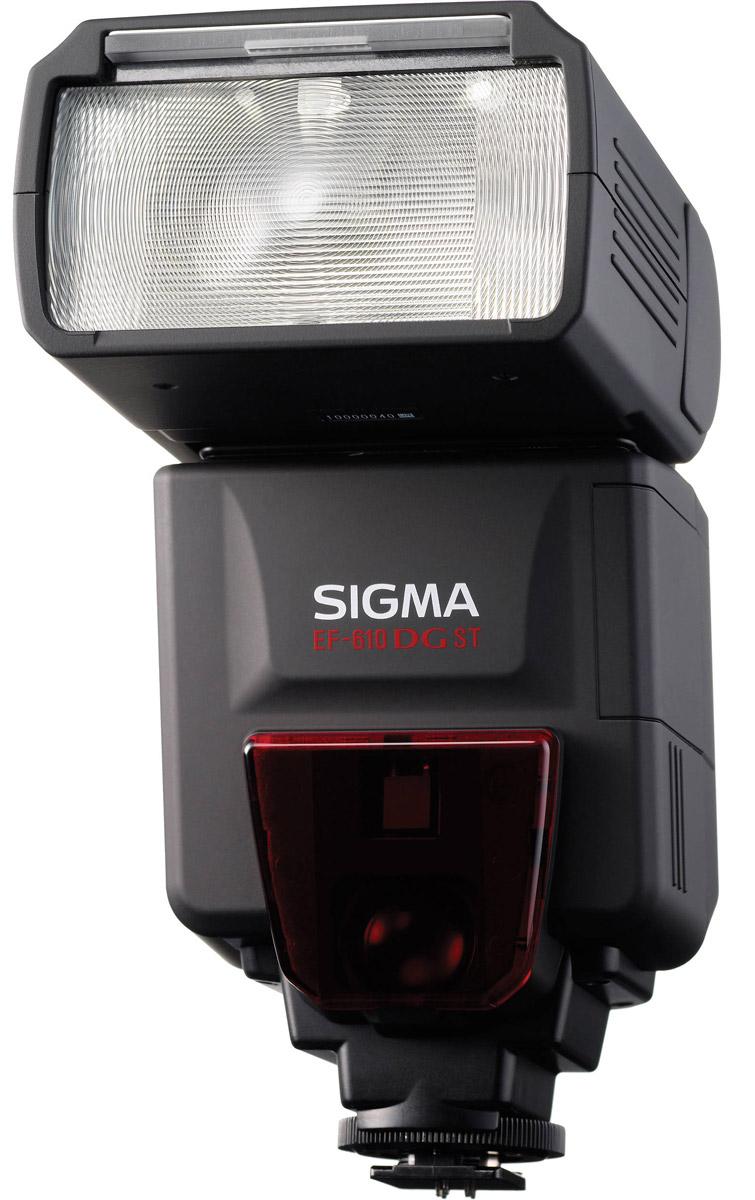Sigma EF 610 DG ST NA-ITTL фотовспышка для Nikon610 DG ST NA-ITTL, NikonЭлектронная многофункциональная вспышка Sigma EF 610 DG ST NA-iTTL с ведущим числом 61 создана для работы с зеркальными фотокамерами Nikon. Полностью автоматическая с TTL управлением экспозиции вспышка оснащена функцией автоматического зуммирования при изменении фокусных расстояний от 24 мм до 105 мм. Головка вспышки вращается в вертикальной плоскости от -7° до 90° и в горизонтальной от -90° до 180°.