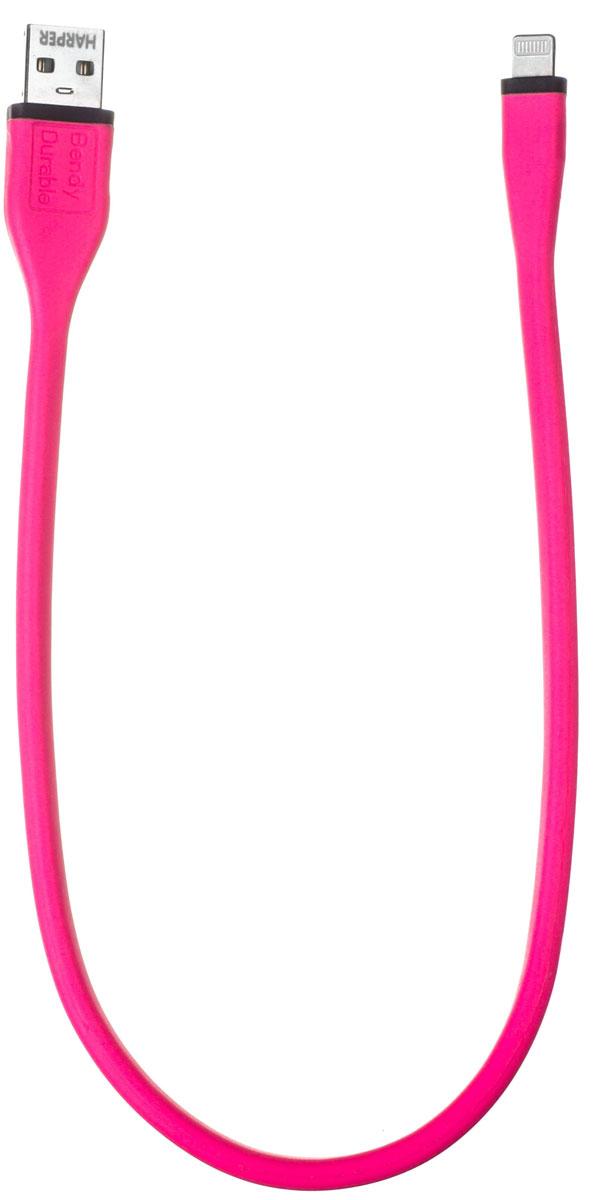 Harper BCH-538, Pink кабельH00000837Кабель Harper BCH-538 подходит для зарядки и синхронизации iPhone/iPad/iPod с разъемом Lightning. Не спутывается. Сверхпрочный.