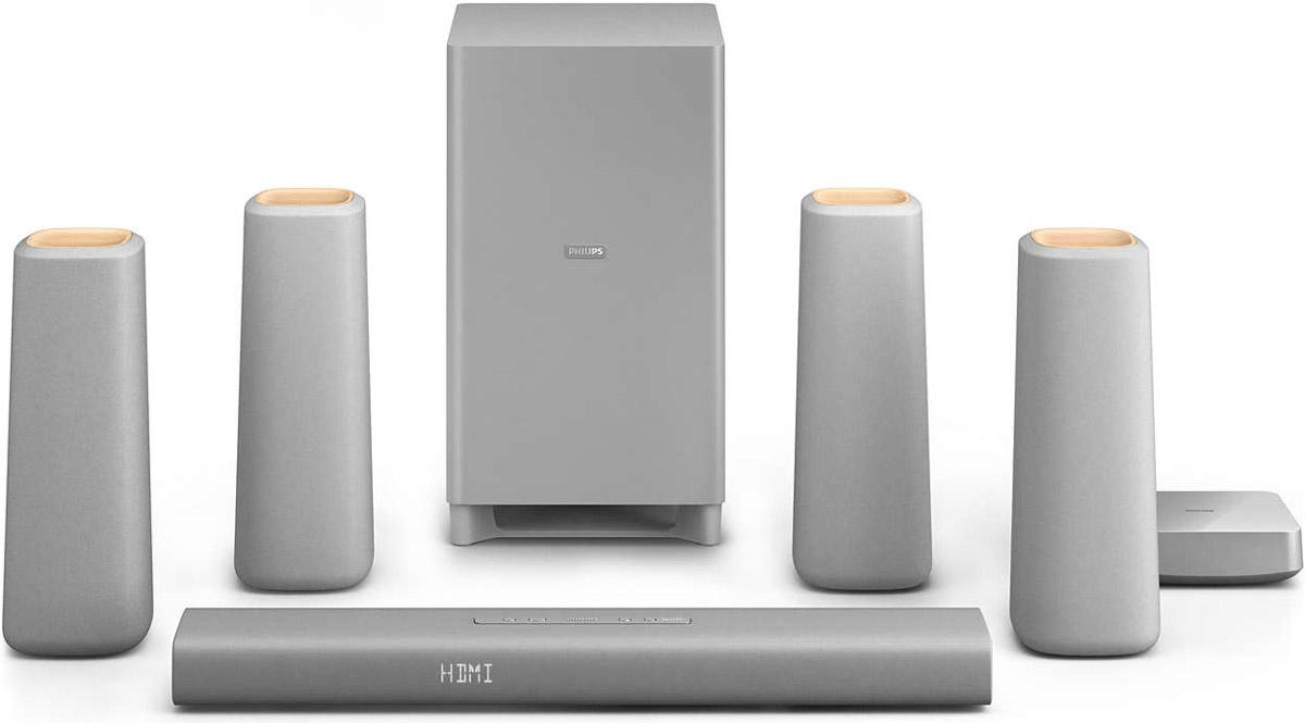 Philips CSS5530G/12 домашний кинотеатрCSS5530G/12АС домашнего кинотеатра Philips Zenit - это лаконичный дизайн и простота использования. Насладитесь естественным сбалансированным звучанием и оцените привлекательный дизайн, выполненный из современных и природных материалов. Умное решение для хранения кабелей и беспроводные тыловые АС гарантируют удобное размещение и максимум впечатлений от прослушивания. HDMI-порт с поддержкой 4K2K для просмотра контента Ultra HD: HDMI 4K2K поддерживает стандарт HDMI 1.4, за счет чего обеспечивается поддержка видеоконтента сверхвысокой четкости (UHD). В настоящее время максимальное разрешение формата 4К составляет 4096 пикселей в ширину и 2160 пикселей в высоту — оно в 4 раза превышает разрешение стандартного HD-дисплея 1080p. Также формат 4К может иметь более низкое разрешение — 3840 х 2160 пикселей. Оба формата поддерживаются стандартом HDMI 1.4. Благодаря 4K-дисплеям современные системы домашних кинотеатров не уступают системам, которые используются в коммерческих...