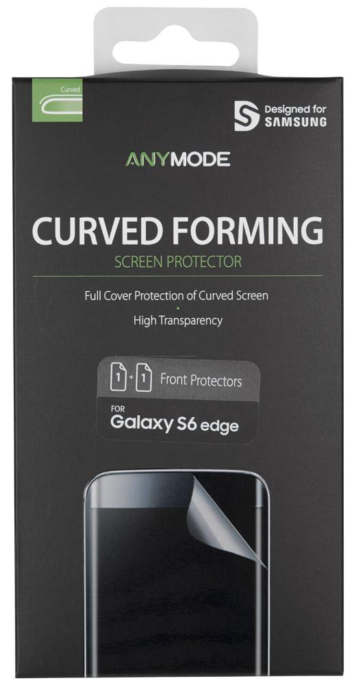 Anymode Curved Formed защитная пленка для Samsung Galaxy S6 EdgeFA00080KCLЗащитная пленка AnyMode надежно предохраняет экран телефона от мелких механических повреждений, царапин и потертостей, полностью сохраняя чувствительность сенсора и яркость цветопередачи. Специальная формула восстанавливает гладкость поверхности, что позволяет надолго сохранить безупречное защитное покрытие. Олеофобное покрытие отталкивает жир, что позволяет надолго сохранить экран чистым.