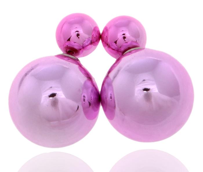 Серьги-шары Шарлиз. Бусины розового цвета, бижутерный сплав серебряного тона. Arrina, ГонконгFH33009Двухсторонние серьги-шары Шарлиз. Бусины розового цвета, бижутерный сплав серебряного тона. Arrina, Гонконг. Размер - диаметр 1,5 см. Серьги-шары - самый модный тренд в этом сезоне!
