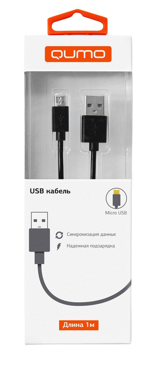 QUMO кабель microUSB-USB круглый, Black (1 м)20511Высококачественный кабель QUMO для надежной подзарядки и синхронизации данных для устройств с разъемом microUSB.