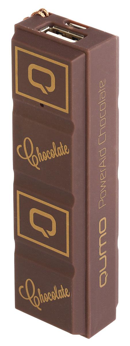 QUMO PowerAid 2.6S, Chocolate внешний аккумулятор20472(22043)Сладкий внешний аккумулятор Qumo PowerAid 2.6S Chocolate - стильный и полезный аксессуар, позволяет подзарядить большинство современных смартфонов и телефонов и выполнен в оригинальном Шоколадном дизайне.