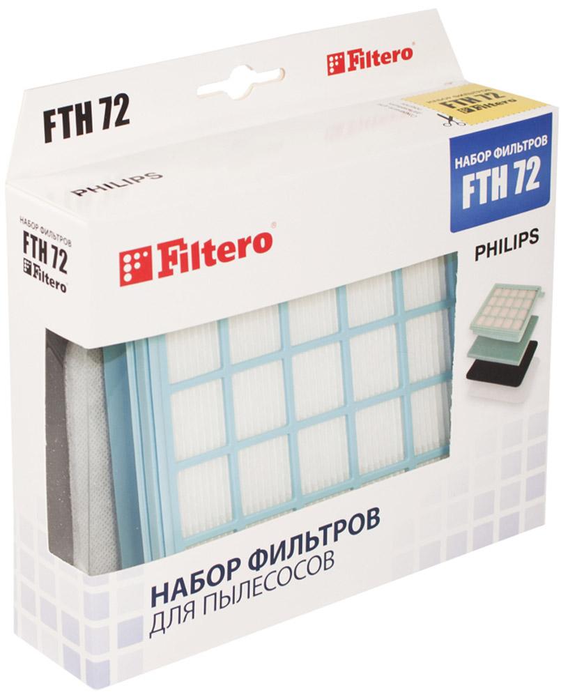 Filtero FTH 72 PHI набор фильтров для PhilipsFTH 72Немоющийся НЕРА фильтр Filtero FTH 72 PHI препятствует выходу мельчайших частиц пыли и аллергенов из пылесоса в помещение. Он подлежит замене согласно рекомендации производителя пылесосов - не реже одного раза за 6 месяцев.
