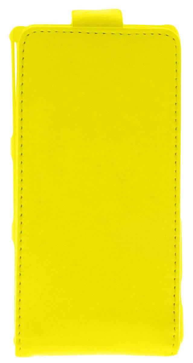 Skinbox 4People чехол для Sony Xperia Z3 Compact, Yellow2000000059457Чехол-флип Skinbox 4People для Sony Xperia Z3 Compact бережно и надежно защитит ваш смартфон от пыли, грязи, царапин и других повреждений. Он изготовлен из качественной эко-кожи и прочного пластика. Обеспечивает свободным доступ ко всем разъемам и кнопкам устройства.
