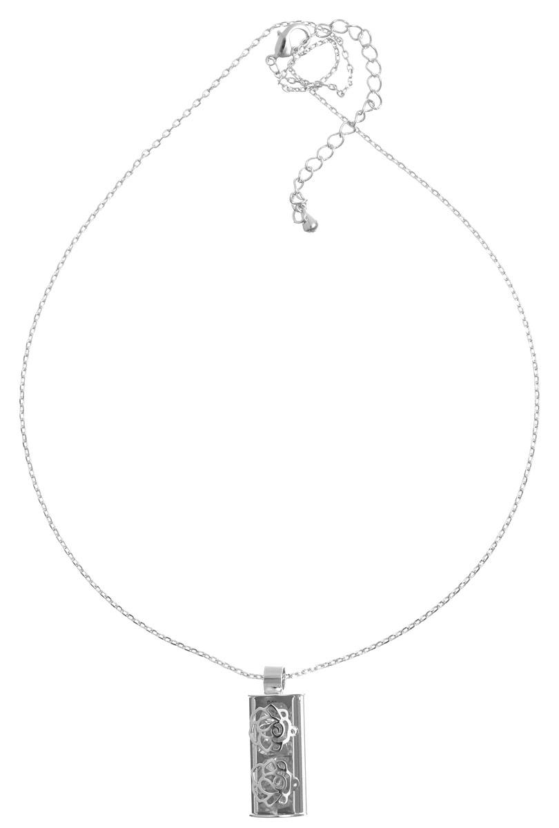 Колье Art-Silver, цвет: серебристый. E15146-S-608E15146-S-608Великолепное колье Art-Silver выполнено из бижутерного сплава. Колье представляет собой тонкую цепочку, которая дополнена оригинальной подвеской с цирконами. Изделие застегивается на замок-карабин с регулирующей длину цепочкой. Изысканное колье станет оригинальным аксессуаром, как для повседневного, так и для вечернего наряда, оно подчеркнет вашу индивидуальность и неповторимый стиль.