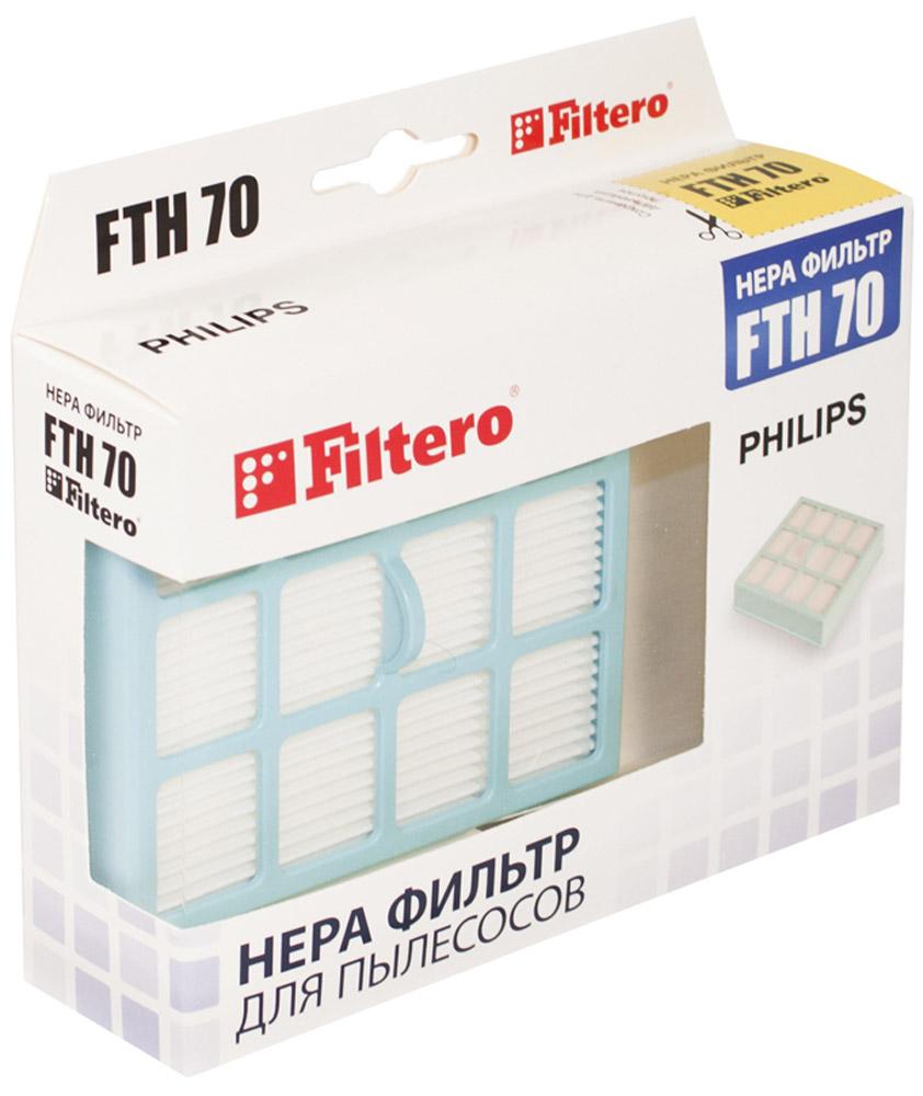 Filtero FTH 70 PHI фильтр для пылесосов PhilipsFTH 70Немоющийся фильтр Filtero FTH 70 уровня фильтрации НЕРА Н 12 препятствует выходу мельчайших частиц пыли и аллергенов из пылесоса в помещение. Он подлежит замене согласно рекомендации производителя пылесосов - не реже одного раза за 6 месяцев.