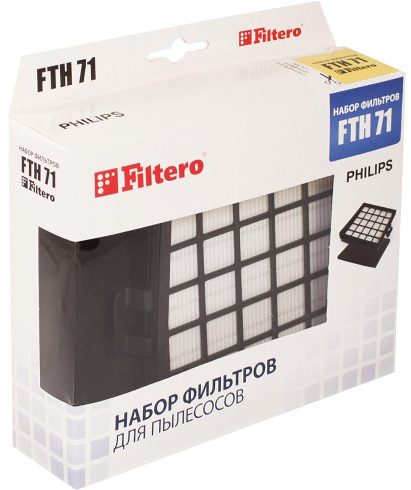 Filtero FTH 71 PHI фильтр для PhilipsFTH 71Набор немоющихся фильтров FFiltero FTH 71 PHI препятствует выходу мельчайших частиц пыли и аллергенов из пылесоса в помещение. Они подлежат замене согласно рекомендации производителя пылесосов - не реже одного раза за 6 месяцев.