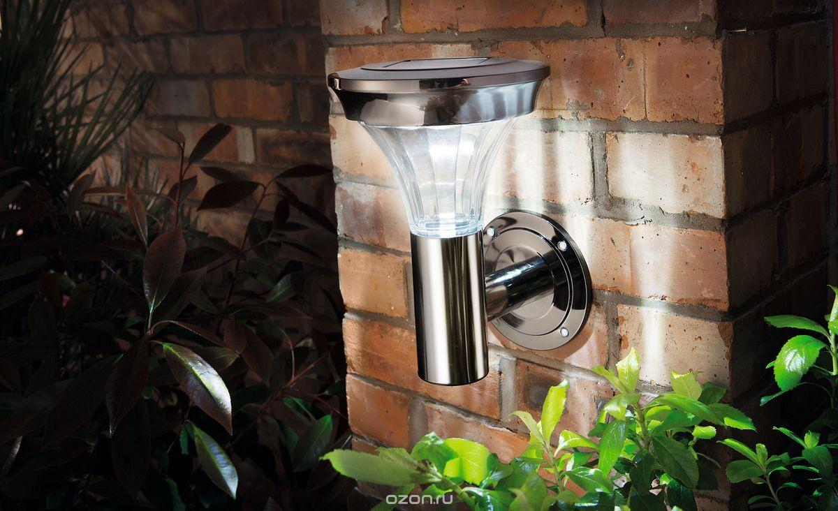 Светильник настенный Gardman, с датчиком движения, 26,7 x 19,5 x 18 см. 1834218342Светильник настенный с датчиком движения. Яркость света повышается в 5 раз при включении датчика, остается во включенном состоянии 20 сек. Дистанция датчика 8 м и 90 градусов. Нержавеющая сталь с черным никелевым покрытием, стеклянная линза. Компания GARDMAN была основана в Великобритании в 1992 г. Благодаря качеству продукции фирма начала быстро развиваться в области садоводства. Она постоянно пополняет ассортимент товара новыми направлениями. Металл