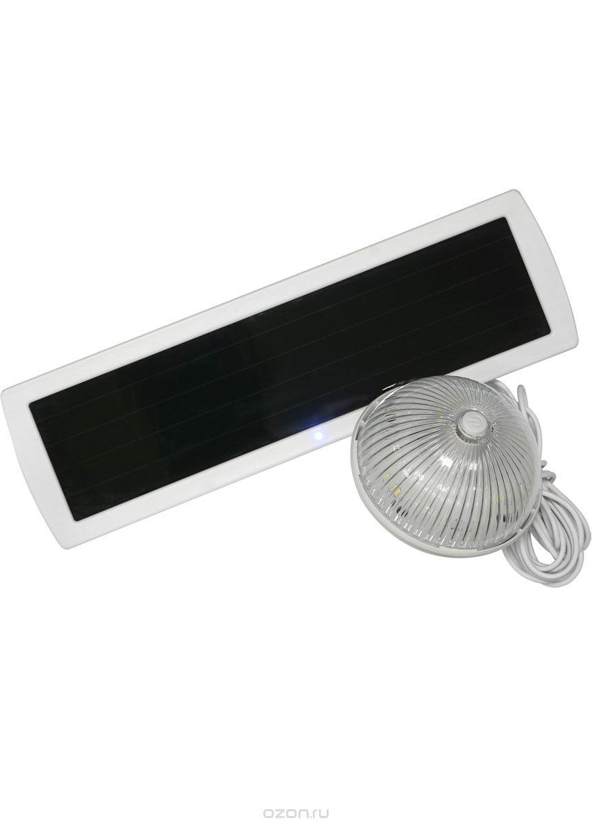 Светильник КОСМОС на солнечных батареях многофункциональный с датчиком освещенности, SMD led, KOC_SOL224