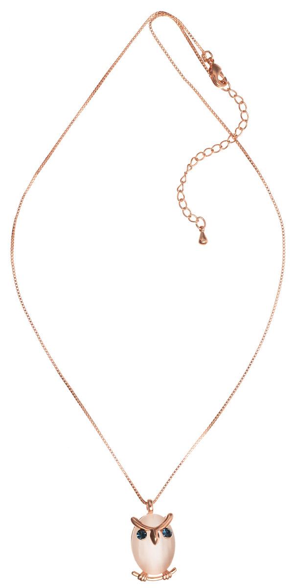 Кулон Art-Silver, цвет: золотой. E16305-508E16305-508Элегантный кулон Art-Silver изготовлен из бижутерийного сплава с покрытием из золота, оформлен вставками из полудрагоценных камней и дополнен изящной цепочкой. Изделие выполнено в виде забавной совы. Украшение застегивается на замок-карабин, длина изделия регулируется за счет дополнительных звеньев в цепочке. В комплекте с изделием поставляется мешочек для хранения с фирменной символикой. Кулон Art-Silver поможет дополнить любой образ и привнести в него завершающий штрих.