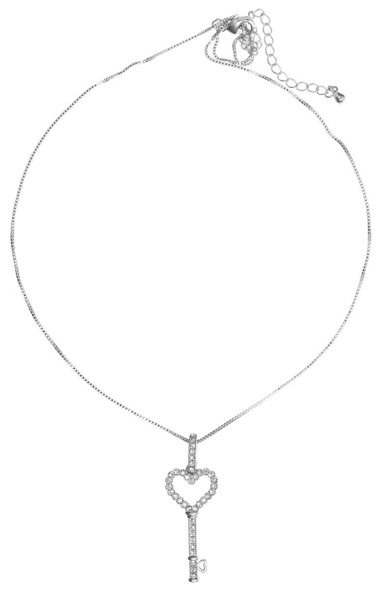 Кулон Art-Silver, цвет: серебряный. М01400-814М01400-814Элегантный кулон Art-Silver изготовлен в виде ключика из бижутерийного сплава, который инкрустирован цирконами и дополнен изящной цепочкой. Украшение застегивается на замок-карабин, длина изделия регулируется за счет дополнительных звеньев в цепочке. В комплекте с изделием поставляется мешочек для хранения с фирменной символикой. Кулон Art-Silver поможет дополнить любой образ и привнести в него завершающий штрих.