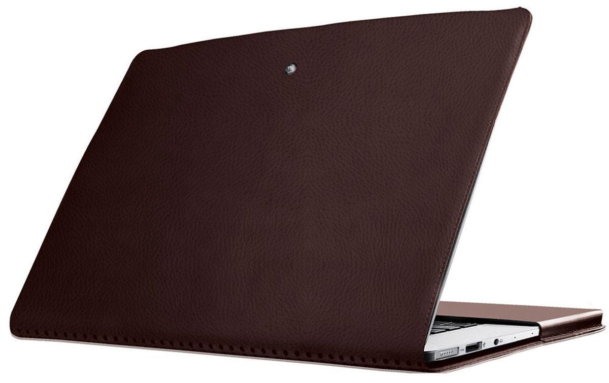 Promate MacLine-Air 11, Brown чехол для MacBook Air6959144007236Обеспечьте ваш MacBook Air легкой, изящной и тонкой защитой при помощи Promate MacLine-Air11. Изготовленный из влагоустойчивой кожи высшего качества с внешней стороны и отделанный мягкой замшей с внутренней, MacLine-Air11 защищает ваш дорогой гаджет от всяких мелких неприятностей (потертости, царапины и т.д.), куда бы вы не пошли. Технические вырезы обеспечивают легкий доступ ко всем портам и кнопкам управления. Гениально разработанные перфорированные отверстия на задней крышке позволяют вашему MacBook Air охлаждаться так, как он это делал без чехла.