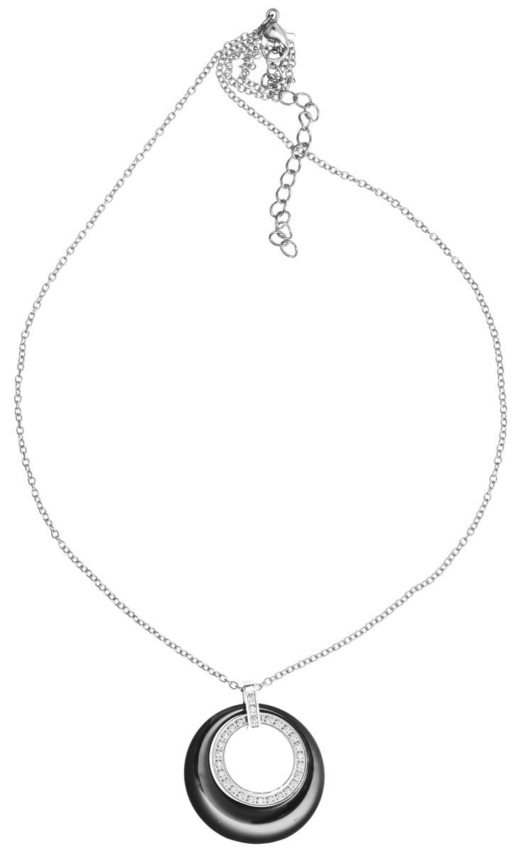 Кулон Art-Silver, цвет: серебряный, серый. КЧ0712-821КЧ0712-821Элегантный кулон Art-Silver изготовлен из бижутерийного сплава и керамики, инкрустирован цирконами и дополнен изящной цепочкой. Украшение застегивается на замок-карабин, длина изделия регулируется за счет дополнительных звеньев в цепочке. В комплекте с изделием поставляется мешочек для хранения с фирменной символикой. Кулон Art-Silver поможет дополнить любой образ и привнести в него завершающий штрих.