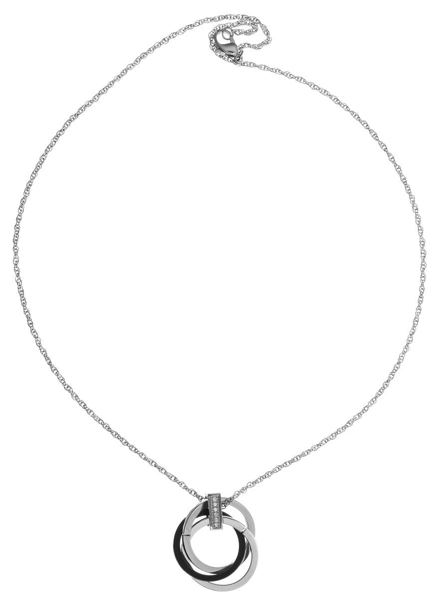 Кулон Art-Silver, цвет: серебряный, серый. КЧ0712-821КЧ0951-762Элегантный кулон Art-Silver изготовлен из бижутерийного сплава и керамики, инкрустирован цирконами и дополнен изящной цепочкой. Украшение застегивается на замок-карабин, длина изделия регулируется за счет дополнительных звеньев в цепочке. В комплекте с изделием поставляется мешочек для хранения с фирменной символикой. Кулон Art-Silver поможет дополнить любой образ и привнести в него завершающий штрих.