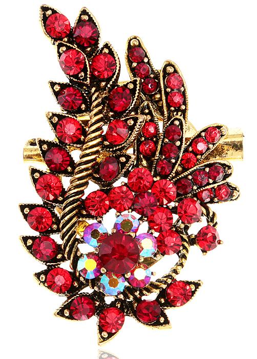 Брошь-клипса для платка Санта-Лючия от D.Mari. Кристаллы Aurora Borealis, кристаллы рубинового цвета, бижутерный сплав старое золото. ГонконгZAP-120Брошь-клипса для платка Санта-Лючия от D.Mari. Кристаллы Aurora Borealis, кристаллы рубинового цвета, бижутерный сплав старое золото. Гонконг. Размер - 6 х 3,5 см.