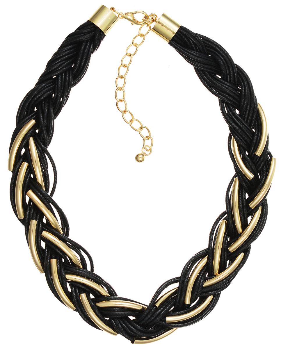 Ожерелье Art-Silver, цвет: золотой, черный. 141114-17