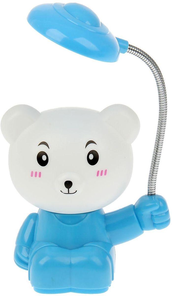 Светильник пластик Мишка цвет голубой