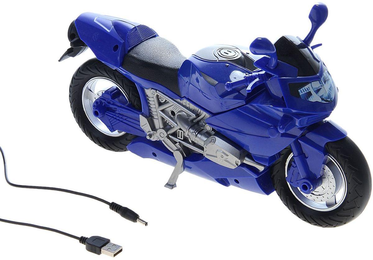 Светильник детский Мотоцикл синий