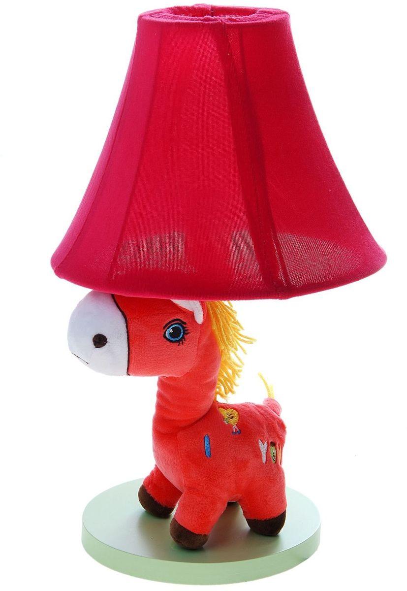 Лампа настольная Плюшевая зебра розовая