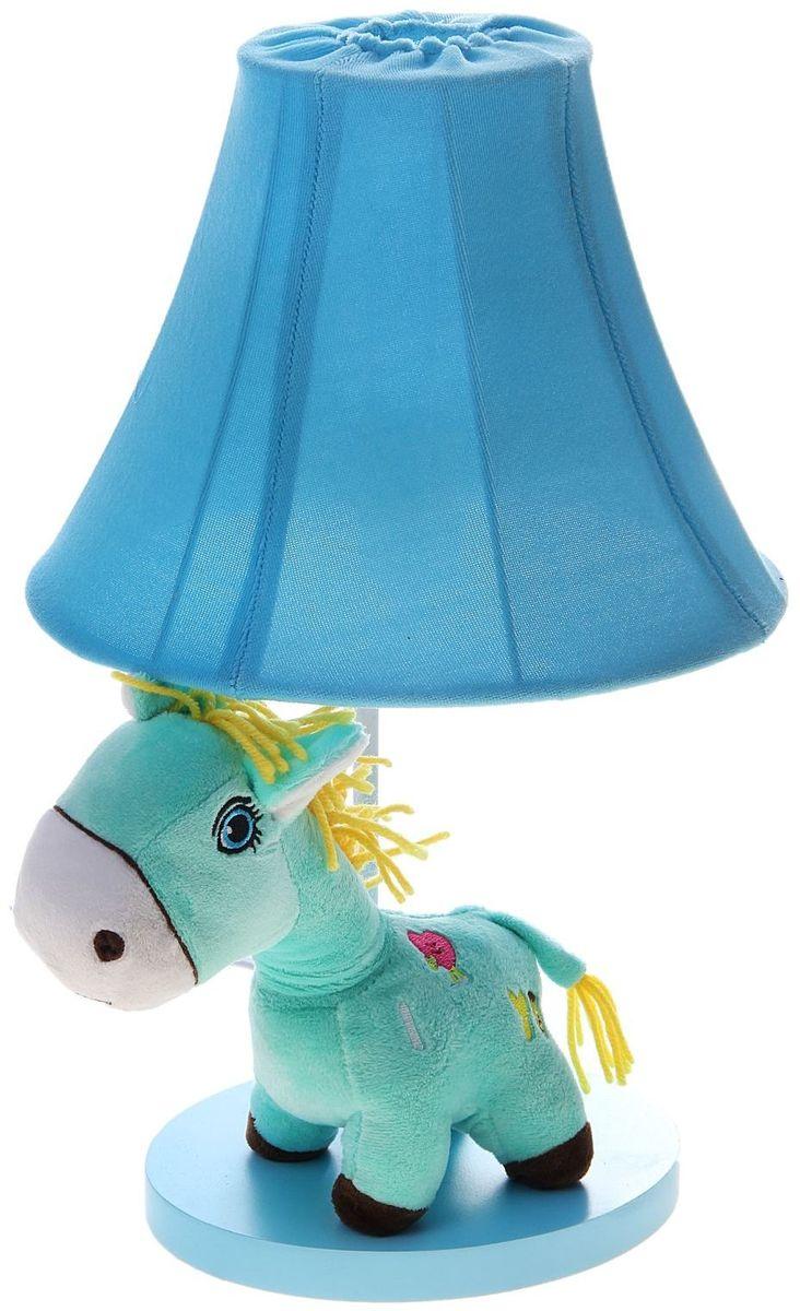 Лампа настольная Плюшевая зебра голубая