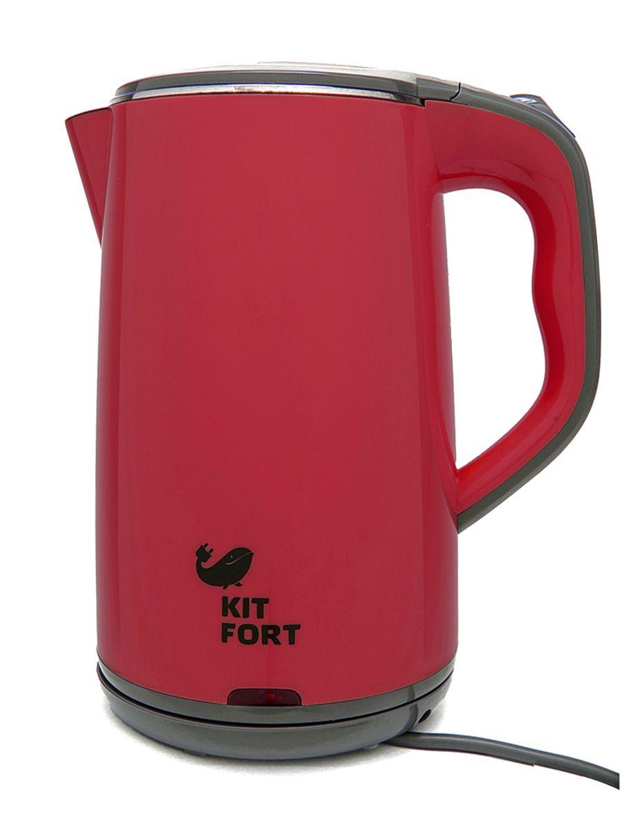 Kitfort КТ-607-2, Red Grey электрический чайникКТ-607-2 красно-серыйЭлектрический чайник Kitfort КТ-607 оснащен всеми необходимыми функциями для удобного использования и предназначен для кипячения воды дома, в офисах, на дачах. Мощность чайника позволяет использовать его в домах со слабой проводкой. Корпус Kitfort КТ-607 двойной. Внутренняя его часть и нижняя часть крышки сделаны из нержавеющей стали. Снаружи корпус и крышка пластиковые. Такая конструкция полностью исключает контакт пластика с водой, вместе с тем наружная пластиковая поверхность не нагревается, и об нее нельзя обжечься. Двойной корпус сохраняет тепло, поэтому чайник быстрее нагревается и хуже остывает по сравнению с полностью металлическим чайником. Такая конструкция уменьшает шум при работе. Горлышко чайника большое, крышка открывается полностью. Это облегчает доступ внутрь при мытье чайника и во время удаления накипи. Нагревательный элемент (ТЭН) у этой модели чайника скрытый и находится в дне. Сверху он закрыт специальной ...