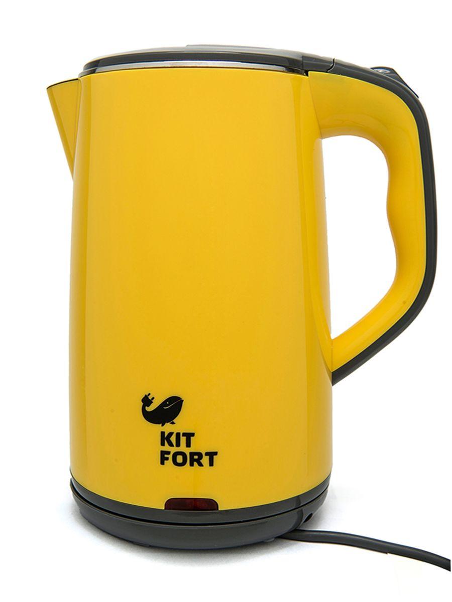 Kitfort КТ-607-3, Yellow Grey электрический чайникКТ-607-3 жёлто-серыйЭлектрический чайник KITFORT КТ-607 оснащен всеми необходимыми функциями для удобного использования и предназначен для кипячения воды дома, в офисах, на дачах. Мощность чайника позволяет использовать его в домах со слабой проводкой. Корпус чайника двойной. Внутри он выполнен из нержавеющей стали, а снаружи защищен пластиком, что предотвращает опасность обжечься о горячие металлические части, а также делает чайник более экономичным. Диаметр горловины увеличен, что облегчает уход.