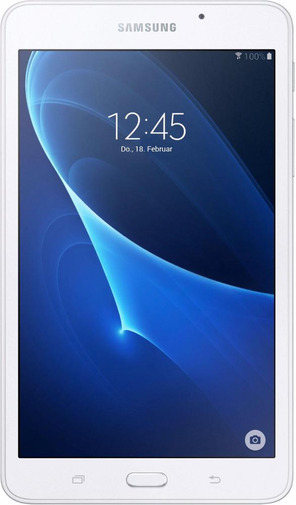 Samsung Galaxy Tab A6 SM-T280, WhiteSM-T280NZWASERПланшетный компьютер Samsung Galaxy Tab A6 привлекает своей компактностью в сочетании с производительностью. В тонком корпусе с классическим дизайном уместилась достойная начинка: четырехъядерный процессор с тактовой частотой 1,3 ГГц и 1,5 ГБ оперативной памяти. За качественное изображение отвечает яркий и сочный 7- дюймовый экран с разрешением 1200x800. Удобный размер планшета позволяет использовать его с одинаковым комфортом и для чтения книг, и для интернет-серфинга, и для развлечений. Точная автофокусировка помогает основной камере 5 Мпикс справиться со съемкой движущихся предметов и получить четкий снимок. Фронтальная камера 2 Мпикс придет на помощь, если нужно сделать автопортрет. Данная модель одинаково подходит как для взрослых, так и для детей. Встроенный таймер ограничивает время, проведенное ребенком за планшетом, а разнообразный увлекательный и образовательный контент поможет малышу провести время с пользой. ...