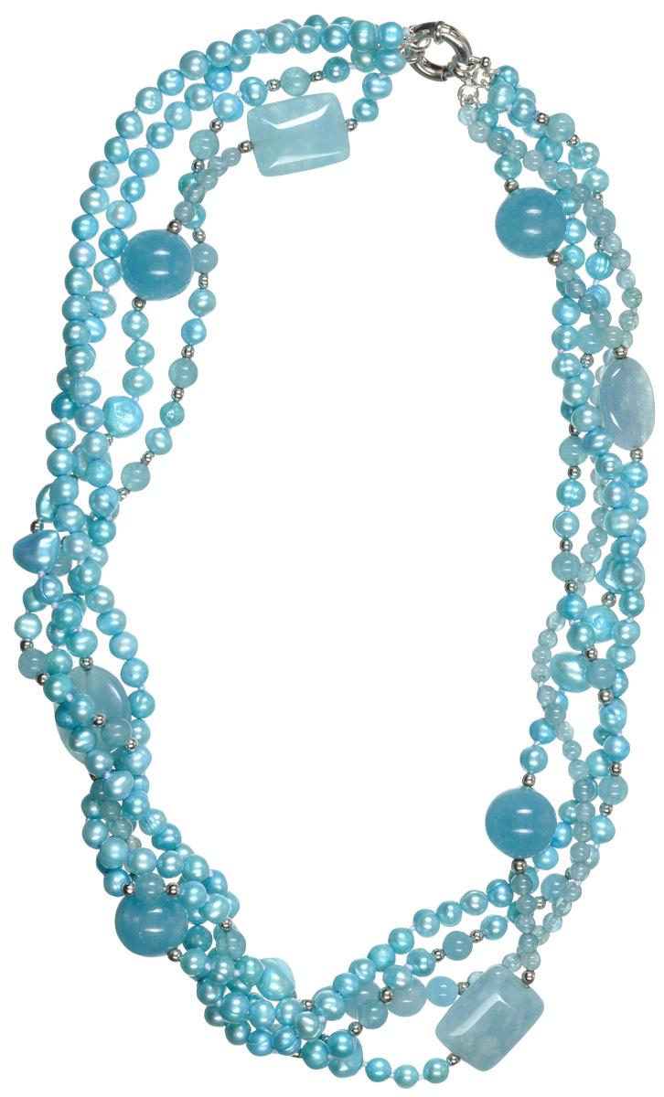 Бусы Art-Silver, цвет: голубой. TNL005-1202