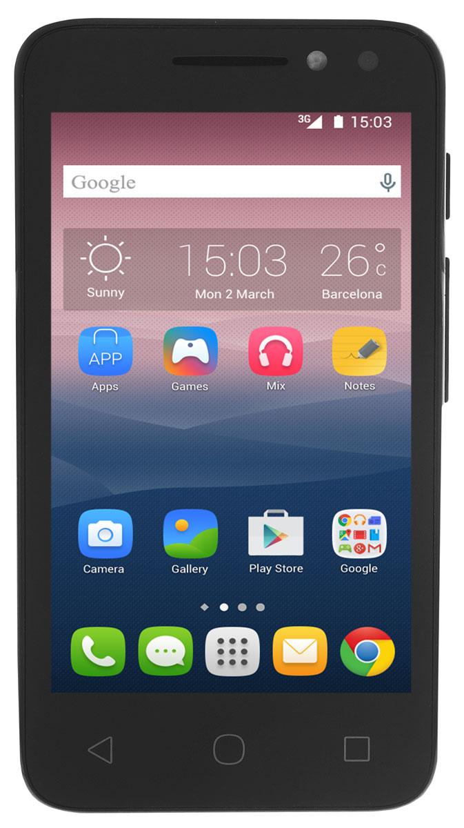 Alcatel OT-4034D Pixi 4 (4.0), Black4034D-2AALRU1Смартфон Alcatel OT-4034D Pixi 4 (4.0) имеет сенсорный ЖК-экран с диагональю 4 и разрешением 480х800 точек. Смартфон оснащен встроенным видео- и аудиоплеером и FM радиоприемником с функцией RDS. Также Alcatel OT- 4034D Pixi 4 оборудован камерой с разрешением 3 Мпикс, которая позволяет делать фотоснимки и видеозаписи. С помощью встроенных модулей Bluetooth и Wi-Fi вы можете передавать информацию (изображения, видео- и аудиофайлы) по беспроводному соединению. Телефон сертифицирован EAC и имеет русифицированный интерфейс меню и Руководство пользователя.